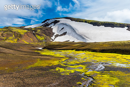 Scenic View Of Snowcapped Mountains Against Sky, Vestmannaeyjar, Iceland - gettyimageskorea