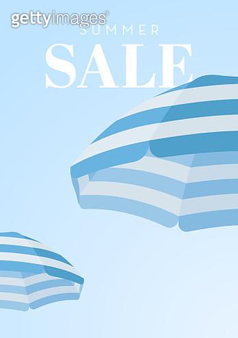 Beach Umbrella Summer Sale Background - gettyimageskorea