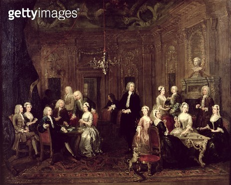 <b>Title</b> : The Wollaston Family, 1730 (oil on canvas)<br><b>Medium</b> : oil on canvas<br><b>Location</b> : On loan to New Walk Museum, Leicester City Museum Service<br> - gettyimageskorea