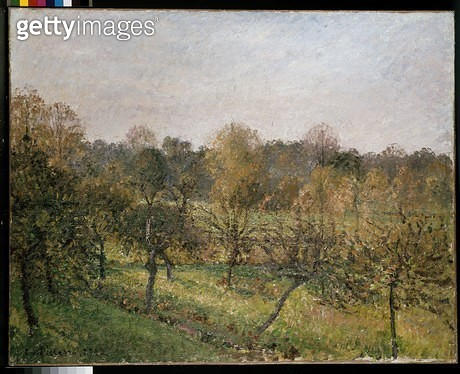<b>Title</b> : Sunset at Eragny (Soleil Couchant a Eragny) 1902 (oil on canvas)<br><b>Medium</b> : oil on canvas<br><b>Location</b> : Ashmolean Museum, University of Oxford, UK<br> - gettyimageskorea