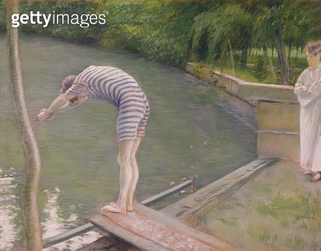 <b>Title</b> : The Bather, or The Diver, 1877 (oil on canvas)<br><b>Medium</b> : oil on canvas<br><b>Location</b> : Musee des Beaux-Arts, Agen, France<br> - gettyimageskorea