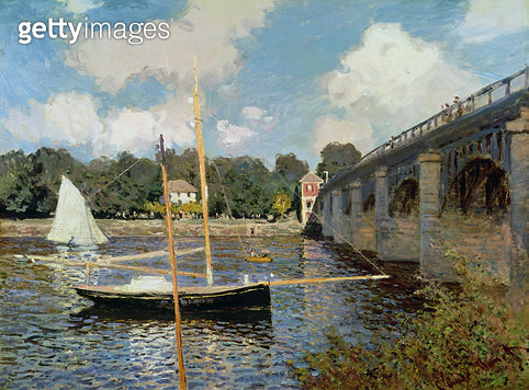 <b>Title</b> : The Seine at Argenteuil (oil on canvas)<br><b>Medium</b> : <br><b>Location</b> : Private Collection<br> - gettyimageskorea