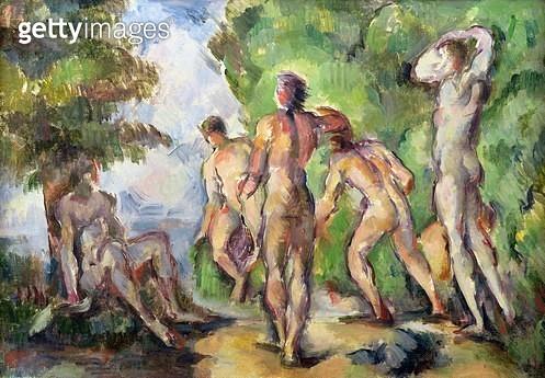 <b>Title</b> : Bathers, c.1892-94 (oil on canvas)<br><b>Medium</b> : oil on canvas<br><b>Location</b> : Musee d'Orsay, Paris, France<br> - gettyimageskorea