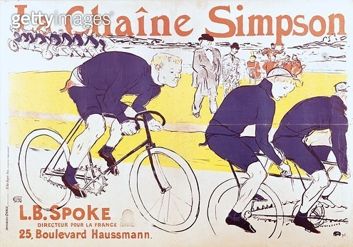 <b>Title</b> : The Simpson Chain, 1896 (colour litho)<br><b>Medium</b> : colour lithograph<br><b>Location</b> : Musee Toulouse-Lautrec, Albi, France<br> - gettyimageskorea