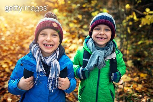 Little boys going to school in September - gettyimageskorea