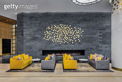 Lobby in a luxury hotel in Moscow - gettyimageskorea