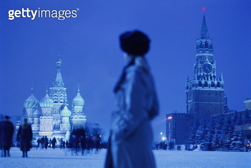 Russia, Moscow, Red Square, St. Basil's Cathedral - gettyimageskorea
