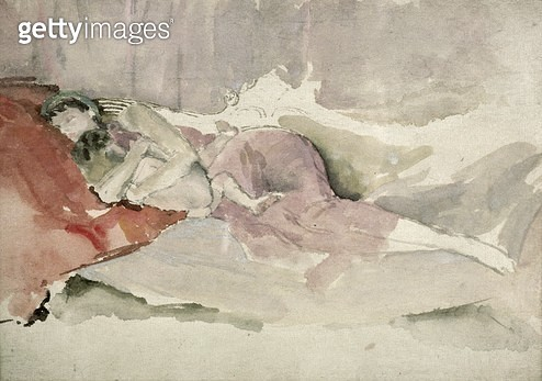 <b>Title</b> : Mother and Child on a Couch (w/c)<br><b>Medium</b> : <br><b>Location</b> : Victoria & Albert Museum, London, UK<br> - gettyimageskorea