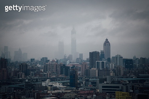 The haze of Taipei. - gettyimageskorea