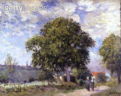 <b>Title</b> : The Entrance to the Village, c.1880 (oil on canvas)<br><b>Medium</b> : oil on canvas<br><b>Location</b> : Bristol City Museum and Art Gallery, UK<br> - gettyimageskorea