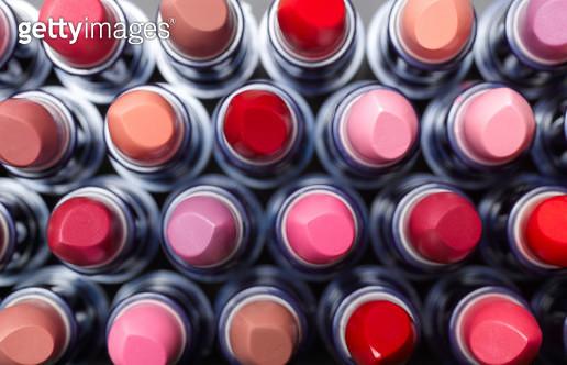 Overhead view of lipsticks - gettyimageskorea