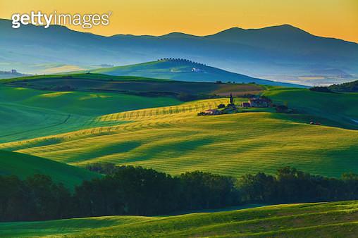 Landscape in Tuscany at sunrise - gettyimageskorea