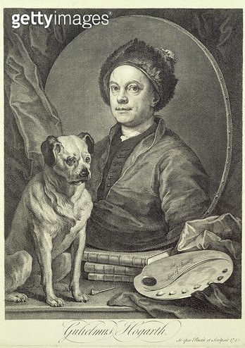 <b>Title</b> : Self Portrait, 1749 (engraving)Additional Infothe fine line of beauty;<br><b>Medium</b> : <br><b>Location</b> : Private Collection<br> - gettyimageskorea