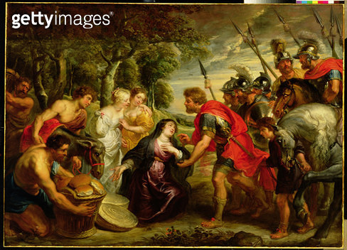 <b>Title</b> : The Meeting of David and Abigail, 1625-28 (oil on canvas)<br><b>Medium</b> : oil on canvas<br><b>Location</b> : The Detroit Institute of Arts, USA<br> - gettyimageskorea
