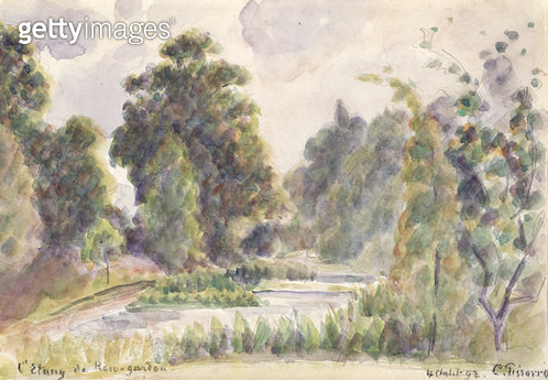 <b>Title</b> : Pond at Kew Gardens, 1892 (w/c over graphite pencil on laid paper)<br><b>Medium</b> : watercolour over graphite pencil on laid paper<br><b>Location</b> : The Detroit Institute of Arts, USA<br> - gettyimageskorea