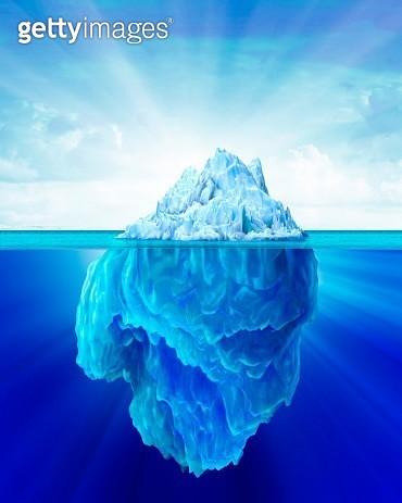 Tip of an iceberg, artwork - gettyimageskorea