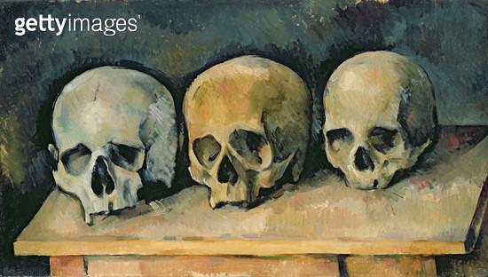 <b>Title</b> : The Three Skulls, c.1900 (oil on canvas)<br><b>Medium</b> : oil on canvas<br><b>Location</b> : The Detroit Institute of Arts, USA<br> - gettyimageskorea