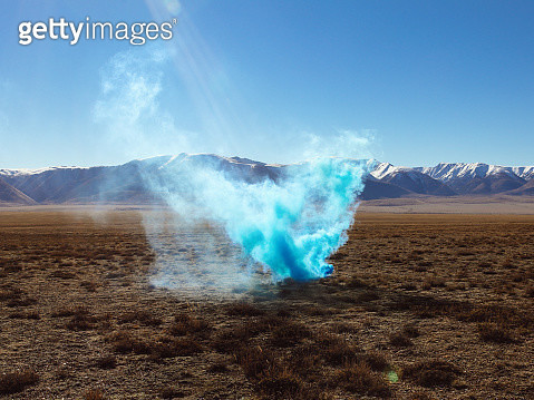 Colored smoke in nature - gettyimageskorea