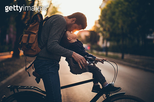 Bonding on a bicycle - gettyimageskorea