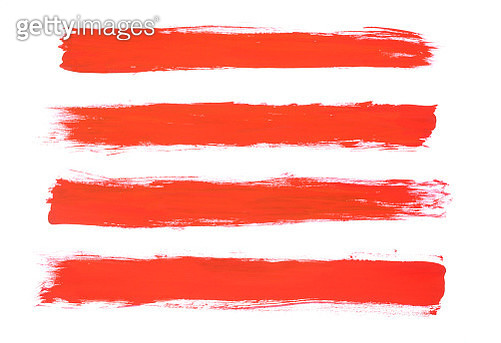 Red paint strokes - gettyimageskorea