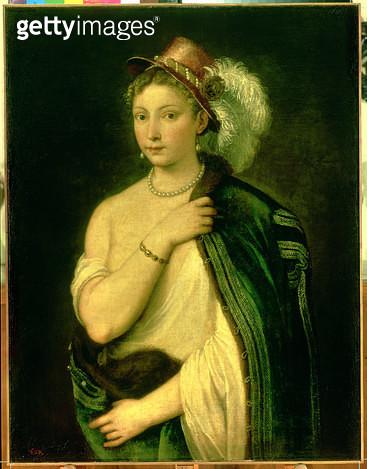 <b>Title</b> : Female Portrait, c.1536 (oil on canvas)<br><b>Medium</b> : oil on canvas<br><b>Location</b> : Hermitage, St. Petersburg, Russia<br> - gettyimageskorea