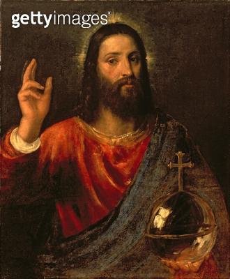 <b>Title</b> : Christ Saviour, c.1570 (oil on canvas)<br><b>Medium</b> : oil on canvas<br><b>Location</b> : Hermitage, St. Petersburg, Russia<br> - gettyimageskorea