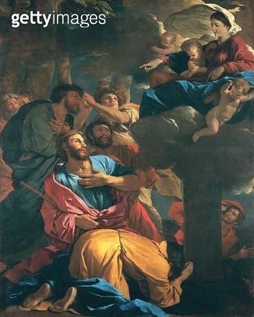 <b>Title</b> : The Apparition of the Virgin the St. James the Great, c.1629-30 (oil on canvas)Additional InfoApparition de la Vierge a Saint Ja<br><b>Medium</b> : oil on canvas<br><b>Location</b> : Louvre, Paris, France<br> - gettyimageskorea