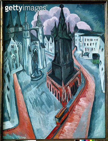 The Red Tower in Halle/ 1915 (oil on canvas) - gettyimageskorea