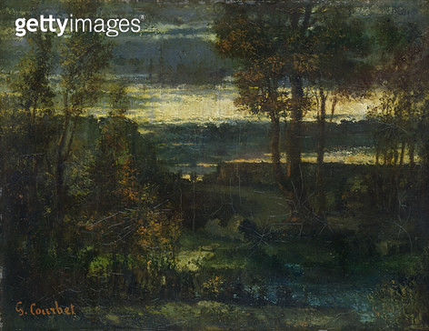 <b>Title</b> : Evening Landscape (oil on canvas)<br><b>Medium</b> : oil on canvas<br><b>Location</b> : Hamburger Kunsthalle, Hamburg, Germany<br> - gettyimageskorea