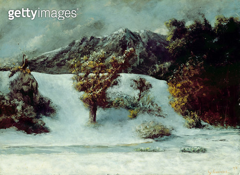 <b>Title</b> : Winter Landscape With The Dents Du Midi, 1876 (oil on canvas)Additional InfoFrench Alps seen from his exile in Switzerland;<br><b>Medium</b> : oil on canvas<br><b>Location</b> : Hamburger Kunsthalle, Hamburg, Germany<br> - gettyimageskorea