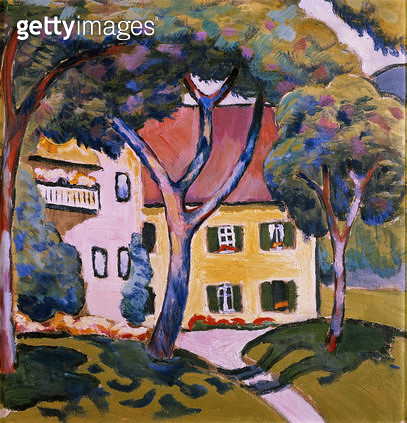 <b>Title</b> : House in a Landscape<br><b>Medium</b> : oil on canvas<br><b>Location</b> : Stadtisches Museum, Mulheim, Germany<br> - gettyimageskorea