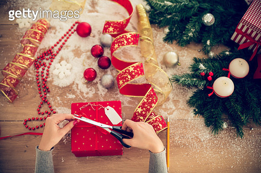 Packing New Year's presents - gettyimageskorea