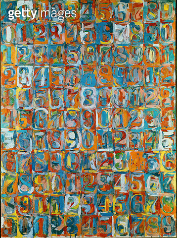 <b>Title</b> : Numbers in Color, 1958-59 (encaustic and newspaper on canvas)Additional Infoexhibited at the 1964 Venice Biennale;<br><b>Medium</b> : <br><b>Location</b> : Albright Knox Art Gallery, Buffalo, New York, USA<br> - gettyimageskorea