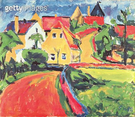 Saxon Village/ 1910 (oil on canvas) - gettyimageskorea