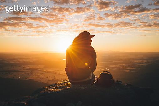 Sunrise at Baroka Lookout in the Grampians National Park in Victoria, Australia - gettyimageskorea