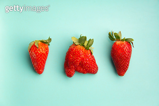 A strawberry who is an individual! - gettyimageskorea