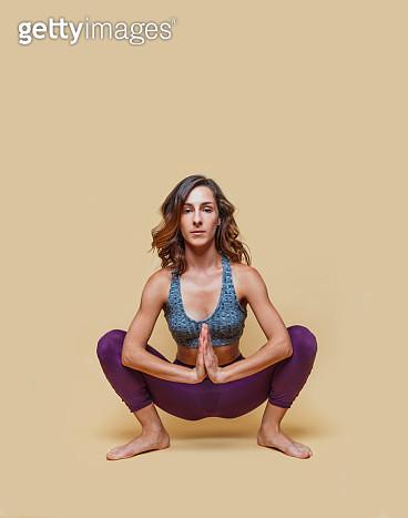 Young woman doing yoga - gettyimageskorea