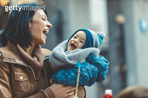 young mother and her son - gettyimageskorea