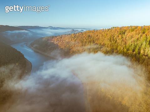 ariel view frogy autumn - gettyimageskorea