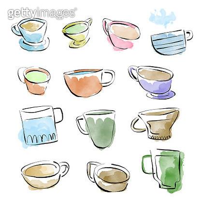 Coffee designs pencil drawings - gettyimageskorea