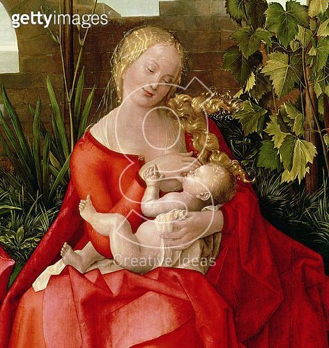<b>Title</b> : Virgin and Child 'Madonna with the Iris', 1508 (tempera on panel) (detail of 22578)<br><b>Medium</b> : tempera on lime panel<br><b>Location</b> : National Gallery, London, UK<br> - gettyimageskorea