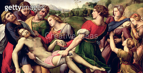 <b>Title</b> : The Deposition, 1507 (oil on panel) (detail of 62308)<br><b>Medium</b> : oil on panel<br><b>Location</b> : Galleria Borghese, Rome, Italy<br> - gettyimageskorea