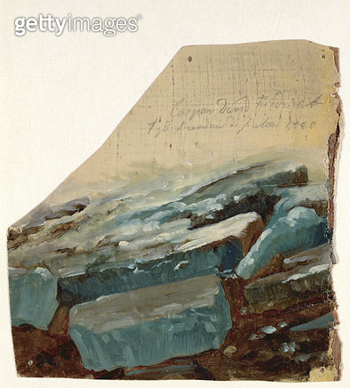 <b>Title</b> : Ice Floe, 1840 (oil on canvas)<br><b>Medium</b> : oil on canvas<br><b>Location</b> : Hamburger Kunsthalle, Hamburg, Germany<br> - gettyimageskorea