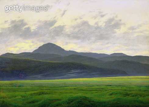 <b>Title</b> : Mountainous landscape (oil on canvas)<br><b>Medium</b> : oil on canvas<br><b>Location</b> : Hamburger Kunsthalle, Hamburg, Germany<br> - gettyimageskorea