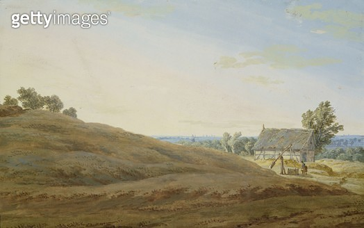 <b>Title</b> : Hut with a Well on the Rugen (gouache on paper)<br><b>Medium</b> : gouache on paper<br><b>Location</b> : Hamburger Kunsthalle, Hamburg, Germany<br> - gettyimageskorea