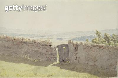 <b>Title</b> : Gate in the Garden Wall (w/c on paper)<br><b>Medium</b> : watercolour on paper<br><b>Location</b> : Hamburger Kunsthalle, Hamburg, Germany<br> - gettyimageskorea