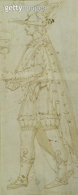 <b>Title</b> : Costume of Mercury, c.1571 (brown ink & wash on paper)<br><b>Medium</b> : brown ink and wash on paper<br><b>Location</b> : The Israel Museum, Jerusalem, Israel<br> - gettyimageskorea