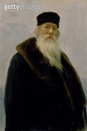 <b>Title</b> : Portrait of Vladimir Vasil'evich Stasov (1824-1906) 1900 (oil on canvas)<br><b>Medium</b> : oil on canvas<br><b>Location</b> : Tretyakov Gallery, Moscow, Russia<br> - gettyimageskorea