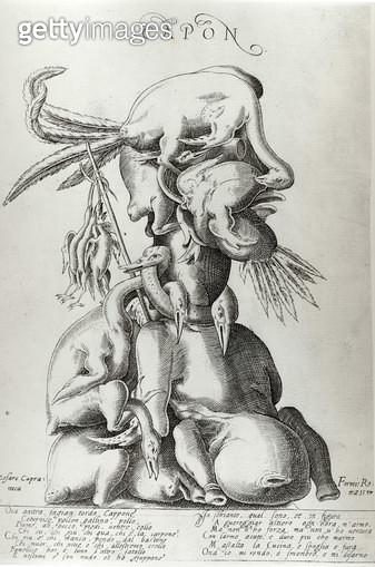 <b>Title</b> : Capon, 1597 (engraving)<br><b>Medium</b> : engraving<br><b>Location</b> : The Israel Museum, Jerusalem, Israel<br> - gettyimageskorea