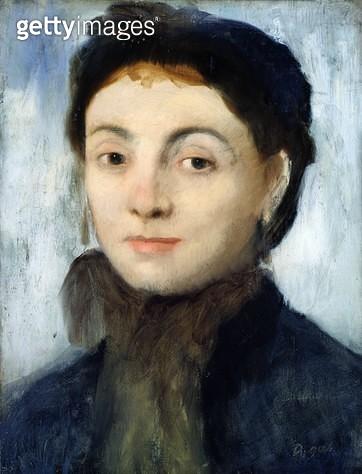 <b>Title</b> : Portrait of Josephine Gaujelin, 1867 (oil on mahogany panel)<br><b>Medium</b> : oil on mahogany panel<br><b>Location</b> : Hamburger Kunsthalle, Hamburg, Germany<br> - gettyimageskorea